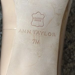 Ann Taylor Shoes - Ann Taylor Leather Beige Cream Heels